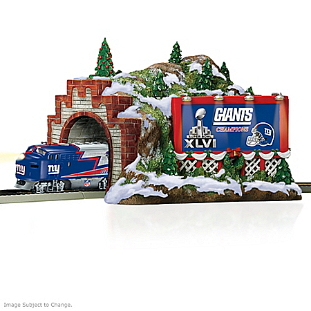 Train Accessory: NFL New York Giants Christmas Mountain Tunnel