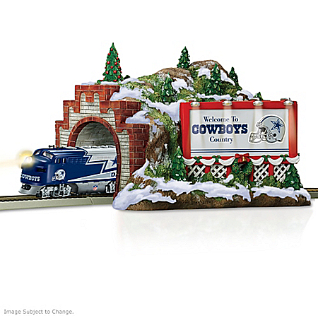 Train Accessory: NFL Dallas Cowboys Christmas Mountain Tunnel