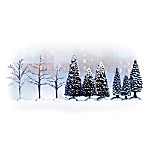 Nature's Frosted Splendor Realistic Snow Landscape Village Accessory