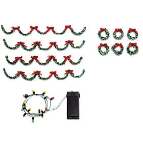 Holiday Trimmings Village Accessory Set