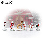 Seasons Greetings COCA-COLA® Polar Bear Village Accessory Set