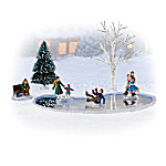 Skating Pond Memories Village Accessory Set