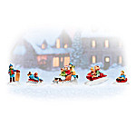 Sledding Away The Day Village Accessory Set