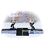 Winter Crossing Gate And Block HO Scale Train Accessory