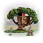 Miniature Village Figurine Accessory: Take A Bough Tree House Set