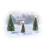 Christmas Village Collectibles Making Spirits Bright Christmas Tree Christmas Village Accessory Figurines