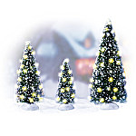 Holiday Sparkle Christmas Tree Christmas Village Accessory Figurines