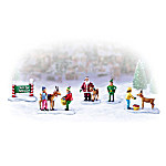 Miniature Christmas Village Figurine Accessory: North Pole Petting Zoo Set