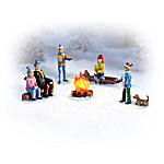 Roasting Marshmallows Winter Village Accessory Figurines