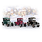 Roarin' Roadsters Vintage Cars Village Accessory Figurine Set