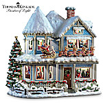 Thomas Kinkade Twas The Night Before Christmas Collectible Story House