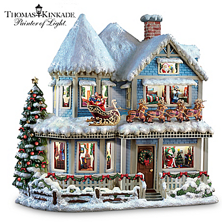 Thomas Kinkade 'Twas The Night Before Christmas' Collectible Story House