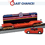 Flatbed Train Car With A Removable 1997 Corvette Diecast Car