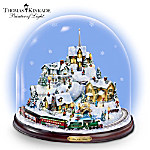 Thomas Kinkade Home For The Holidays Collectible Bell Jar