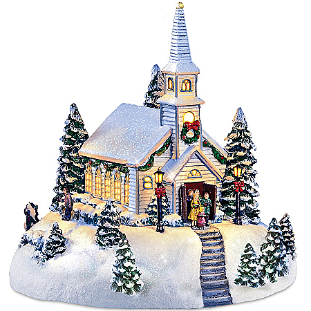 Thomas Kinkade Sculpture: Holy Night Chapel