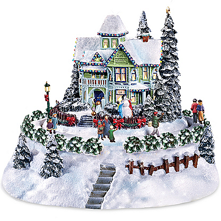 Thomas Kinkade Sculpture: The Snowflake Bed And Breakfast