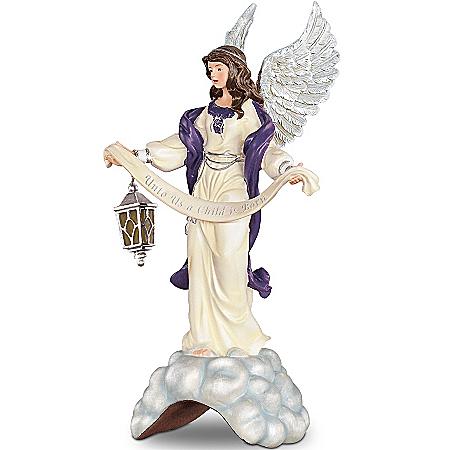 Thomas Kinkade Unto Us A Child Is Born Nativity Angel