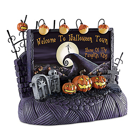 Welcome To Halloween Town Billboard Nightmare Before Christmas Village Accessory