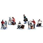 Thomas Kinkade Painter of Light Village Accessory Figurine Set
