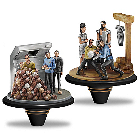 STAR TREK The Trouble With Tribbles And Amok Time Figurine Set