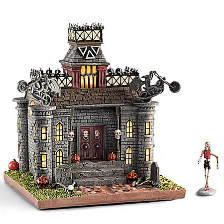 Haunted Manor Illuminated Sculpture