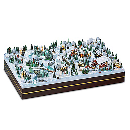 Thomas Kinkade Winter Wonderland Miniature Village
