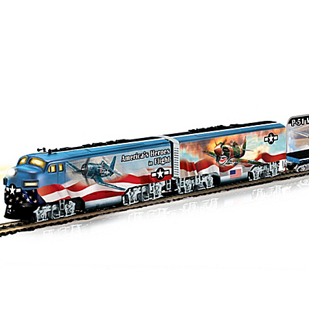 America's Freedom Flyers WWII Fighter Plane HO-Gauge Train Set