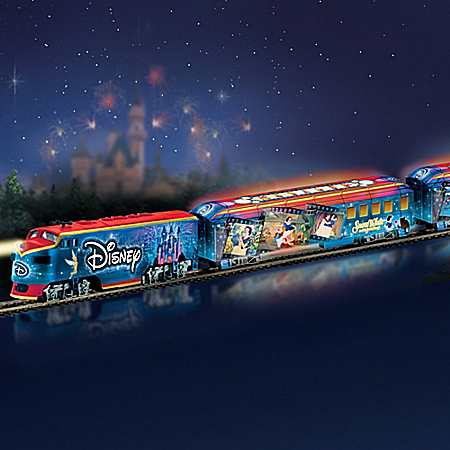 Disney Movie Magic Express Train Set With Illuminated Train Cars