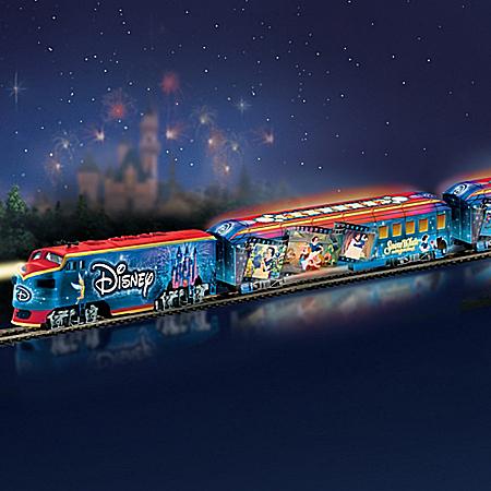 Disney Movie Magic Express Train Set With Illuminated Train Cars