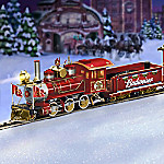 Hawthorne Village Budweiser Holiday Express Train Gift Set