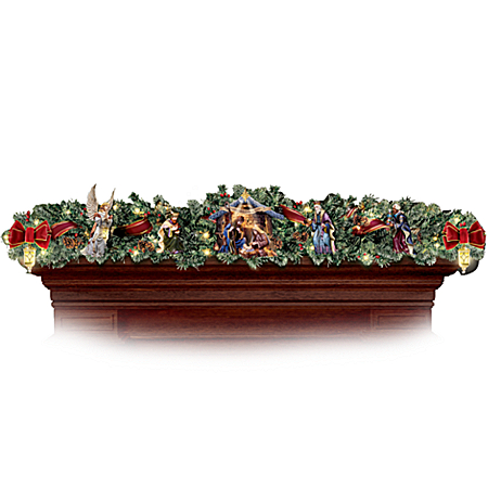 Thomas Kinkade Nativity Garland Set
