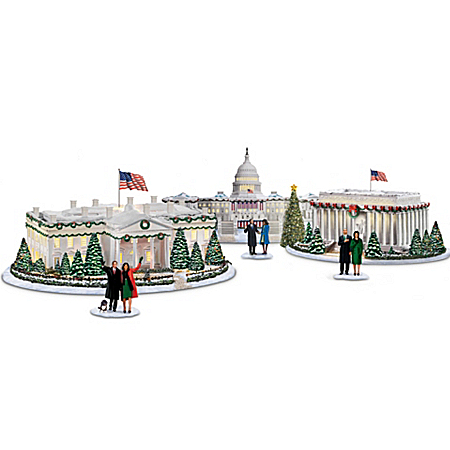 White House Village Set: Washington, DC At Christmas