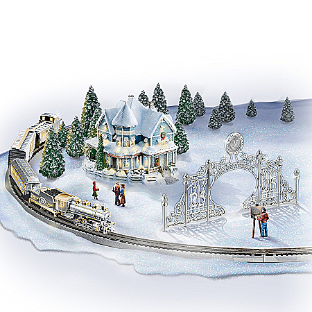 Thomas Kinkade 25th Anniversary Village And Train Set