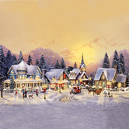 Thomas Kinkade Village Christmas Set