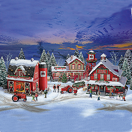 click for Full Info on this Village Set: Farmall Holiday Village Set