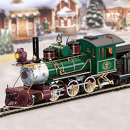Thomas Kinkade Illuminated Christmas Express Train Set