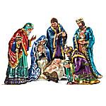 The Jeweled Nativity Peter Carl Faberge Inspired Figurine Set