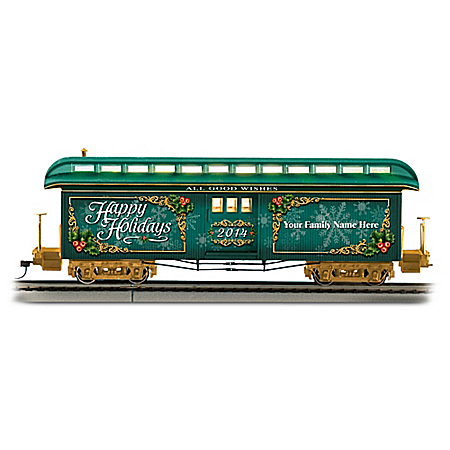 2014 Personalized HO-Scale Holiday Train Car: Lights Up!