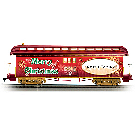 2015 Personalized On-30 Scale Holiday Train Car: Lights Up!