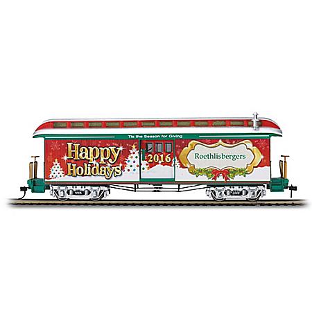 2016 Illuminated Personalized Holiday Train Car