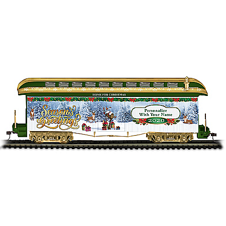 2020 Personalized Holiday HO-Gauge Electric Train Car