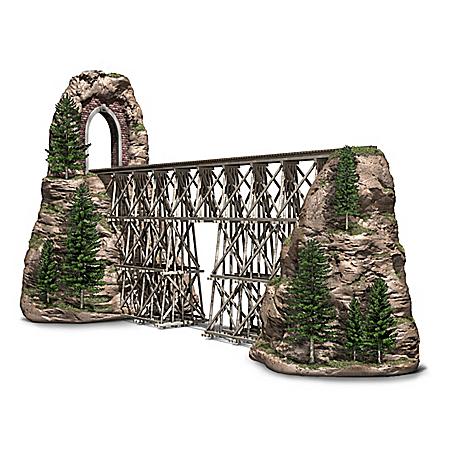 Timber Trestle Bridge Masterpiece Sculpture Train Accessory