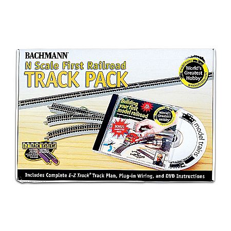 N-Scale 47-Piece Railroad Track Pack Train Accessory