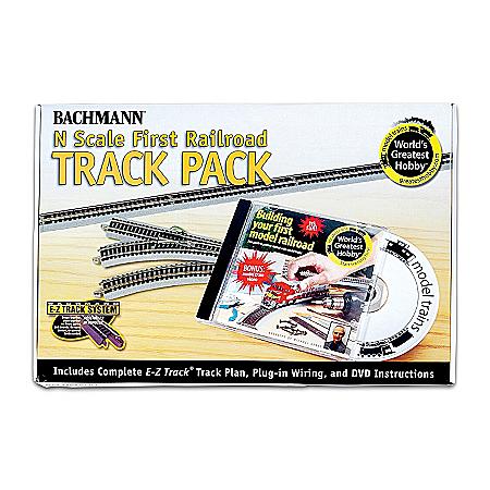 N-Scale 47-Piece Railroad Track Pack Train Accessory