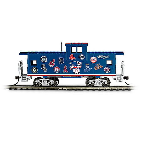 Hawthorne Village MLB Caboose Train Accessory With All 30 Team Logos