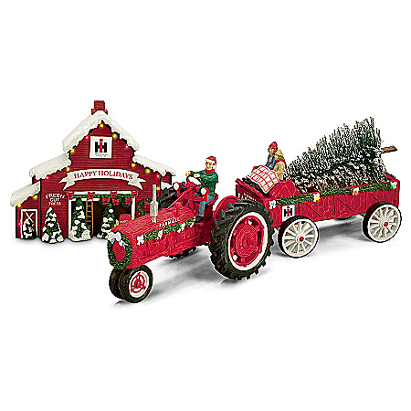 Christmas Village Collectibles 75 Years Of Farmall Red Anniversary Edition Christmas Figurine Set