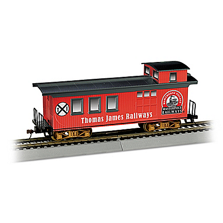 Personalized Caboose HO-Gauge Train Car