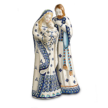 Polish Stoneware Pottery Boleslawiec Nativity Set