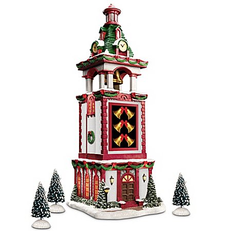 Thomas Kinkade Christmas Bell Tower Village Accessory
