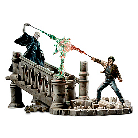 HARRY POTTER Battle Of HOGWARTS Hand-Painted Sculpture